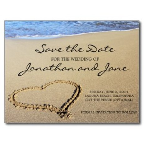 nautical save the date postcard anchor