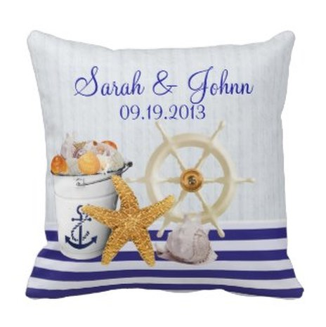nautical save the date postcard beach