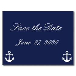 compass save the date postcard
