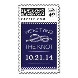 nautical save the date stamp knot