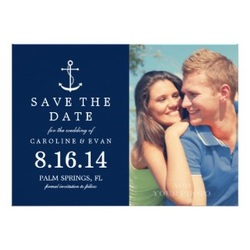 save the date nautical wedding invitation