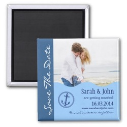 nautical save the date magnet